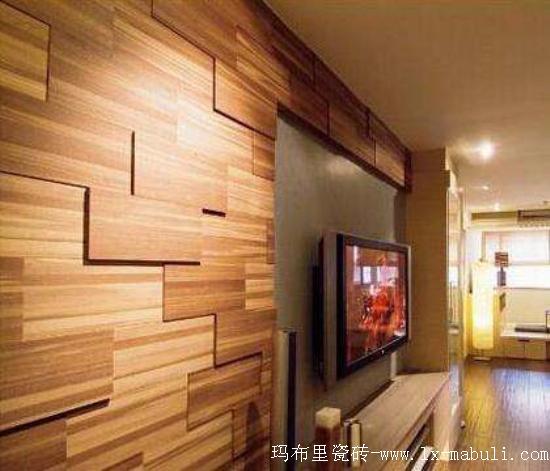 木紋磚上墻好處多效果好,家居裝修新風尚